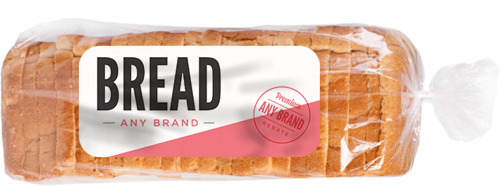 Bread - Any Brand Any pre-sliced single loaf