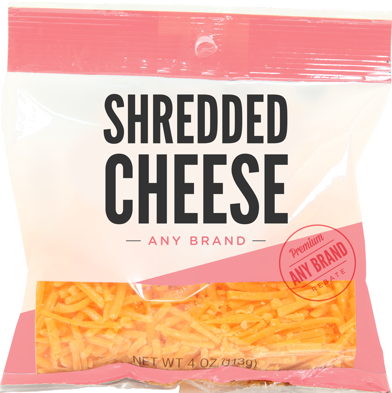Shredded Cheese - Any Brand