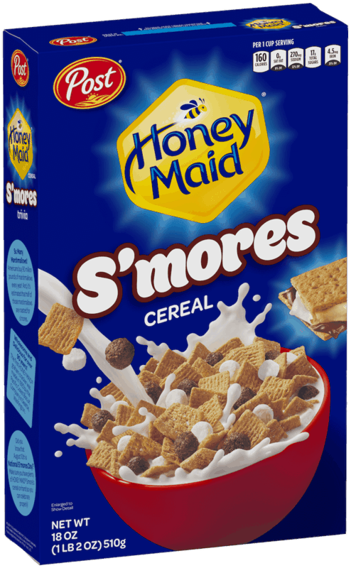 $0.50 for Post HONEY MAID S'mores Cereal (expiring on Saturday, 02/01/2020). Offer available at multiple stores.