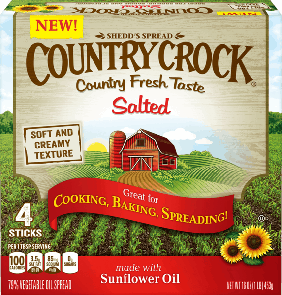 $0.50 for Country Crock® Buttery Sticks (expiring on Sunday, 12/31/2017). Offer available at Walmart.