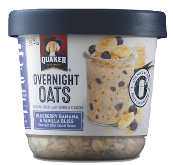 $1.00 for Quaker® Overnight Oats (expiring on Wednesday, 01/02/2019). Offer available at multiple stores.