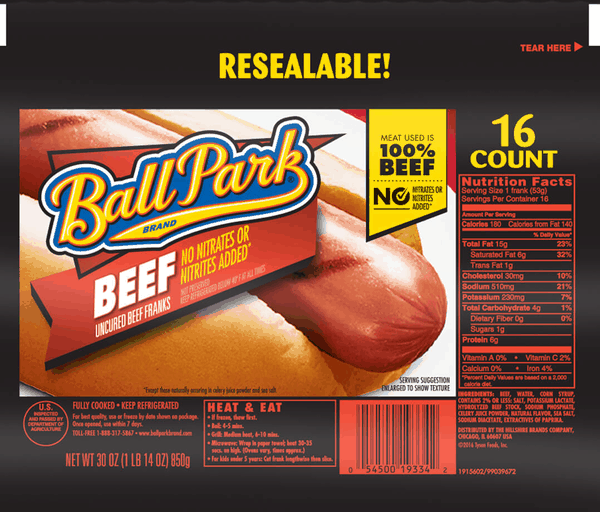 $0.50 for Ball Park® Hot Dogs (expiring on Thursday, 11/30/2017). Offer available at Walmart.