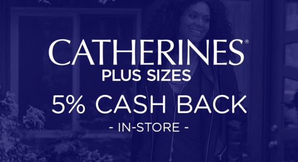 $0.00 for Catherines (expiring on Wednesday, 10/02/2019). Offer available at Catherines.