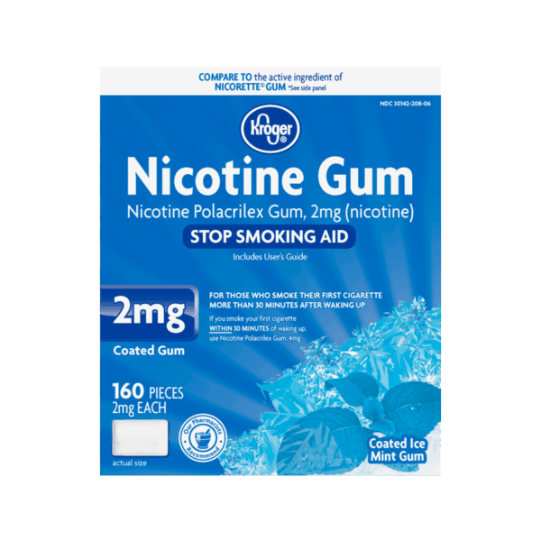 graphic regarding Gum Coupons Printable called $5.00 for Kroger Nicotine Gum Protected Ice Mint. Offer you