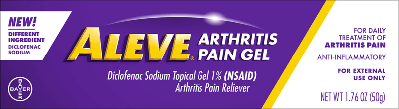 $1.00 for Aleve Arthritis Pain Gel (expiring on Monday, 01/31/2022). Offer available at multiple stores.