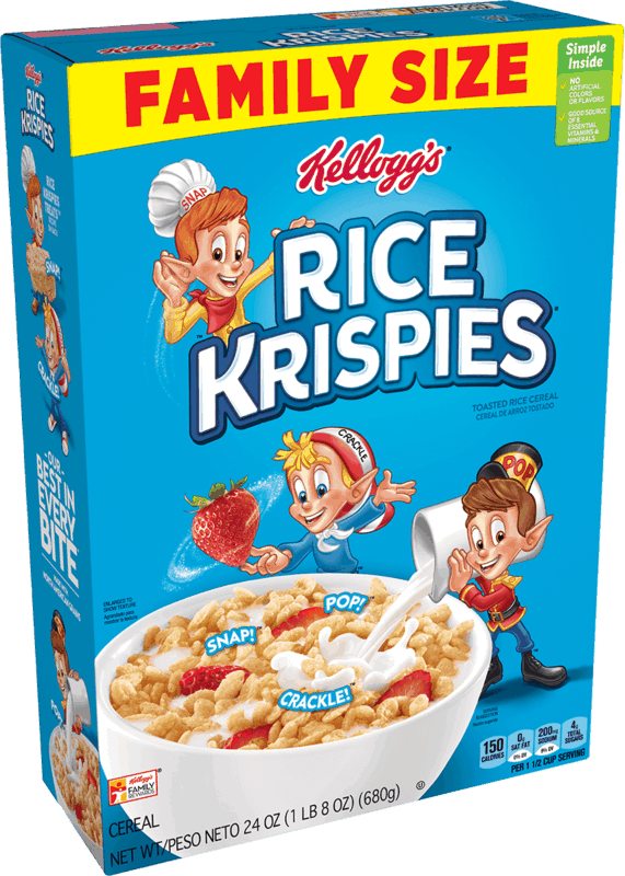 $0.50 for Kellogg's Rice Krispies Cereal (expiring on Saturday, 11/14/2020). Offer available at Walmart, Walmart Pickup & Delivery.