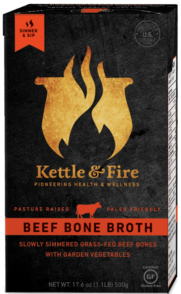 $1.00 for Kettle & Fire Beef Bone Broth. Offer available at multiple stores.