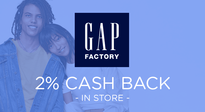 $0.00 for Gap Factory (expiring on Monday, 09/02/2019). Offer available at Gap Factory.