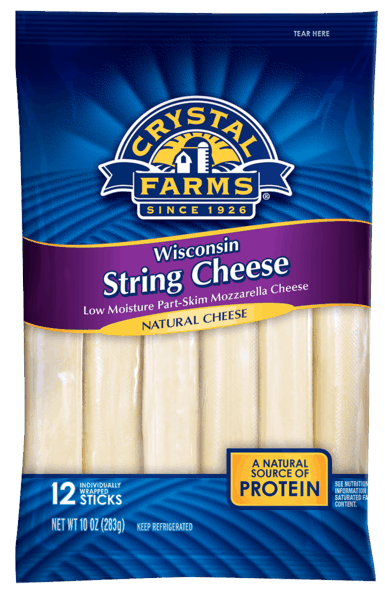 $0.50 for Crystal Farms® Snack Cheese (expiring on Sunday, 09/02/2018). Offer available at multiple stores.