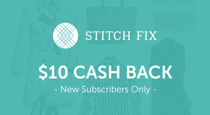 $10.00 for Stitch Fix (expiring on Wednesday, 01/20/2021). Offer available at Stitch Fix.