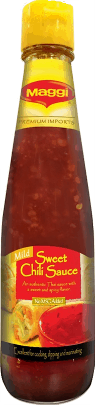 $0.50 for MAGGI Sweet Chili Sauce (expiring on Sunday, 08/02/2020). Offer available at Publix, Rouses.