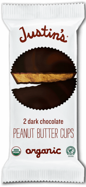 $0.25 for Justin's® Organic Peanut Butter Cups (expiring on Sunday, 09/02/2018). Offer available at multiple stores.