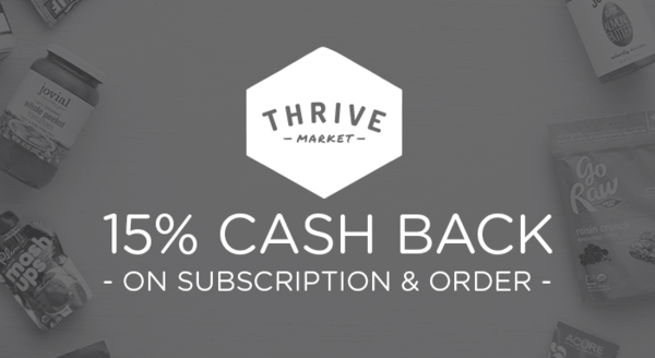 $0.00 for Thrive Market (expiring on Wednesday, 07/31/2019). Offer available at Thrive Market.