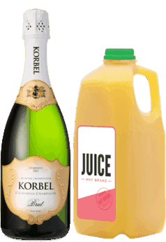 $3.00 for KORBEL® & Any Brand Juice (expiring on Wednesday, 11/01/2017). Offer available at multiple stores.