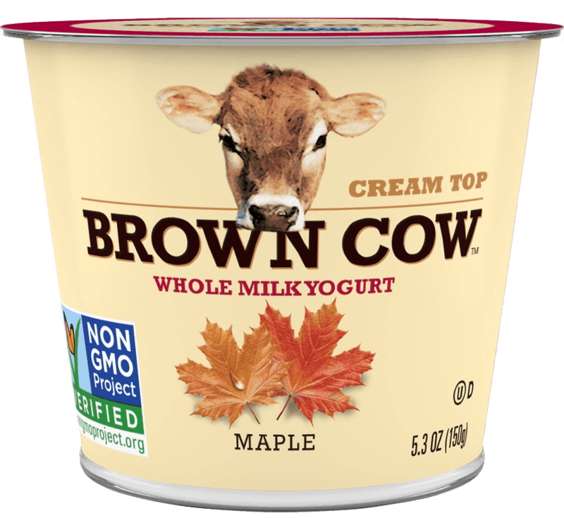 $1.00 for Brown Cow Cream Top Small Cup Yogurt (expiring on Sunday, 08/02/2020). Offer available at Walmart.