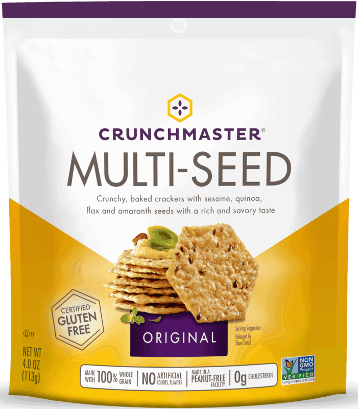 $1.00 for CRUNCHMASTER Crackers and Snacks. Offer available at multiple stores.