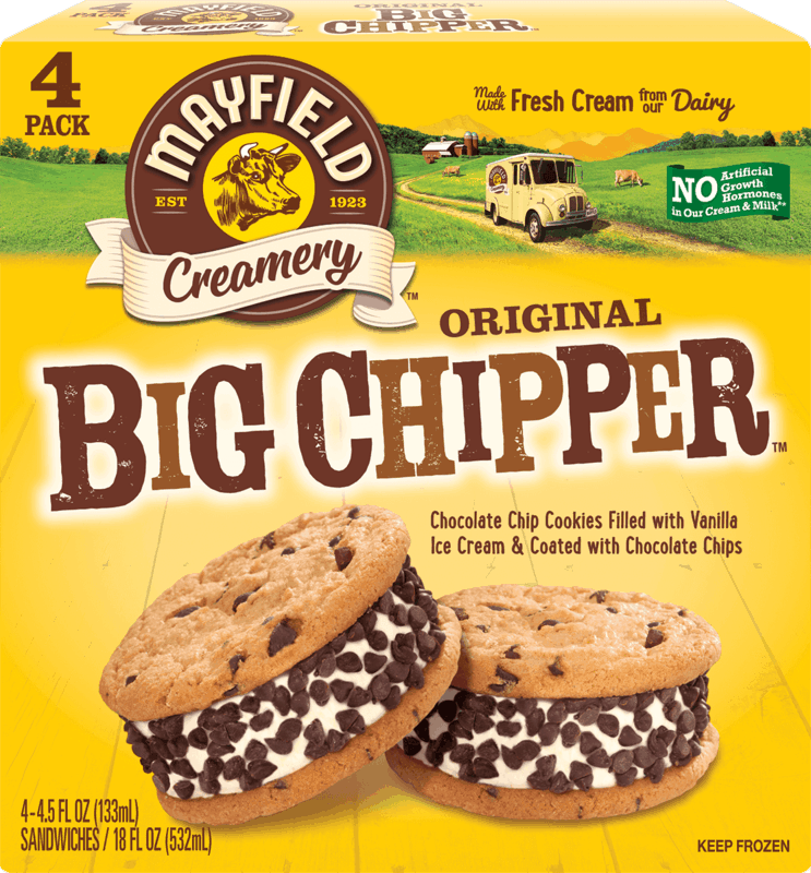 $1.50 for Mayfield Creamery™ Big Chipper™. Offer available at multiple stores.