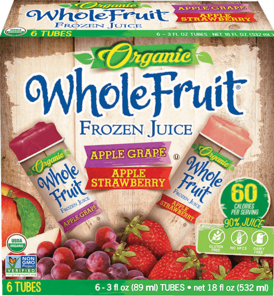 $1.00 for Whole Fruit® Organic Frozen Juice Tubes (expiring on Wednesday, 01/02/2019). Offer available at multiple stores.