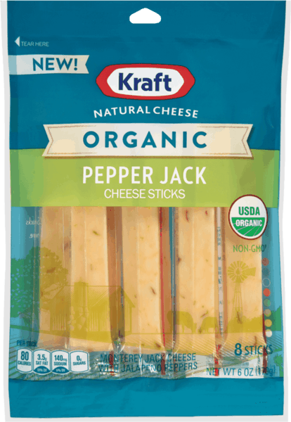 $0.75 for Kraft® Natural Organic Cheese Sticks (expiring on Sunday, 12/31/2017). Offer available at Walmart.