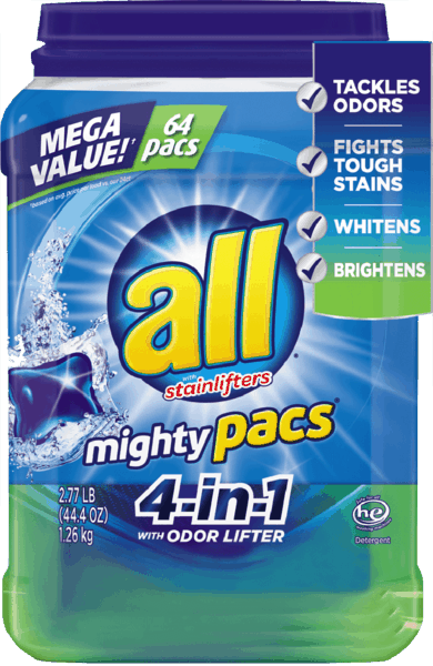 $1.00 for all® Laundry Detergent. Offer available at Walmart.
