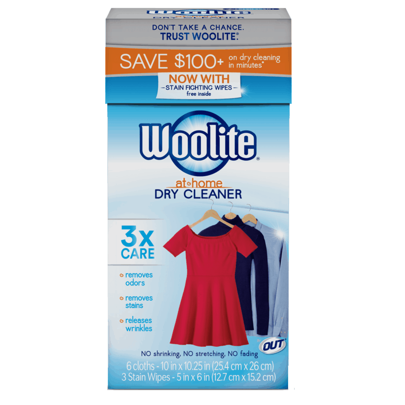 $2.00 for Woolite® At-Home Dry Cleaner (expiring on Saturday, 10/31/2020). Offer available at H-E-B.
