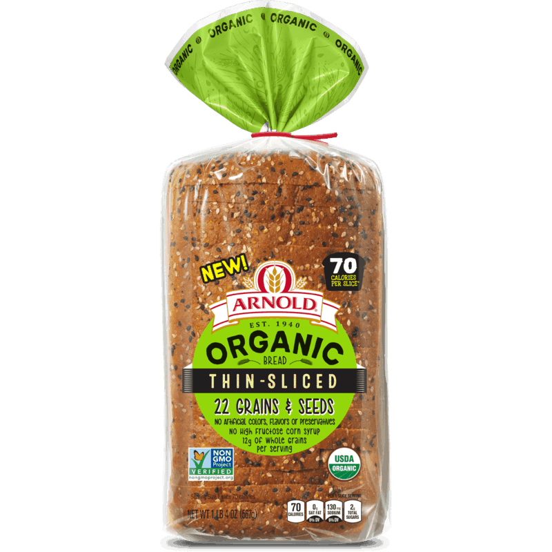 $1.50 for Arnold® Organic Thin-Sliced Bread (expiring on Monday, 12/02/2019). Offer available at multiple stores.