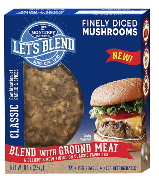 $1.00 for Let's Blend™ Finely Diced Mushrooms (expiring on Monday, 09/02/2019). Offer available at multiple stores.