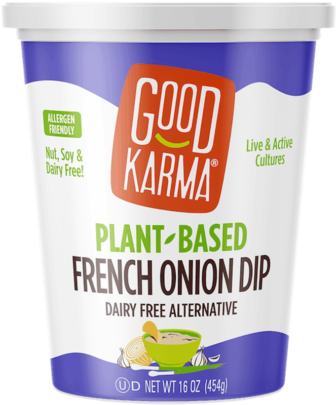 $1.50 for Good Karma Plant-Based Dips (expiring on Sunday, 06/14/2020). Offer available at multiple stores.