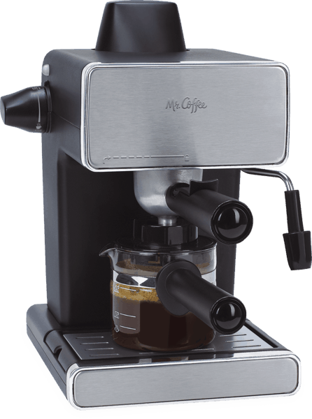 $5.00 for Mr. Coffee® Steam Espresso & Cappuccino Maker (expiring on Wednesday, 05/02/2018). Offer available at Walmart.