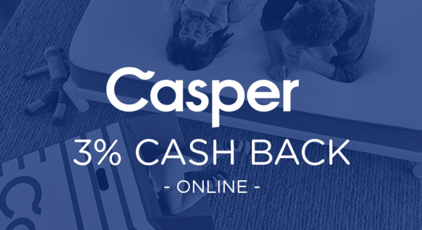 $0.00 for Casper (expiring on Wednesday, 09/26/2018). Offer available at Casper.
