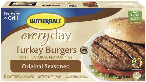 $1.00 for Butterball® Everyday Turkey Burgers (expiring on Thursday, 08/02/2018). Offer available at multiple stores.