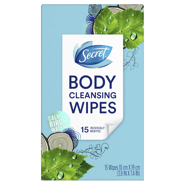 $2.00 for Secret®Body Cleansing Wipes (expiring on Sunday, 06/30/2019). Offer available at multiple stores.