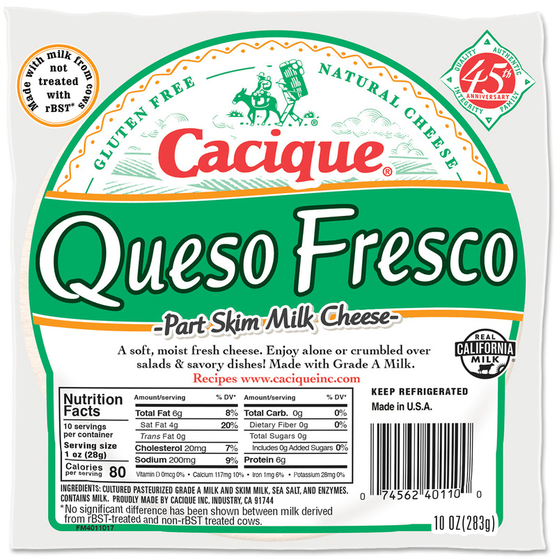 $0.50 for Cacique® Queso Fresco. Offer available at multiple stores.