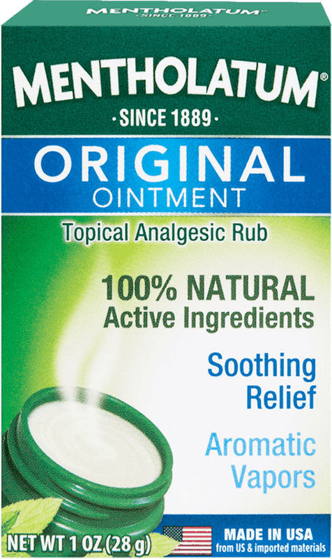 $0.75 for Mentholatum Original Ointment Vaporizing Chest Rub (expiring on Thursday, 05/28/2020). Offer available at multiple stores.