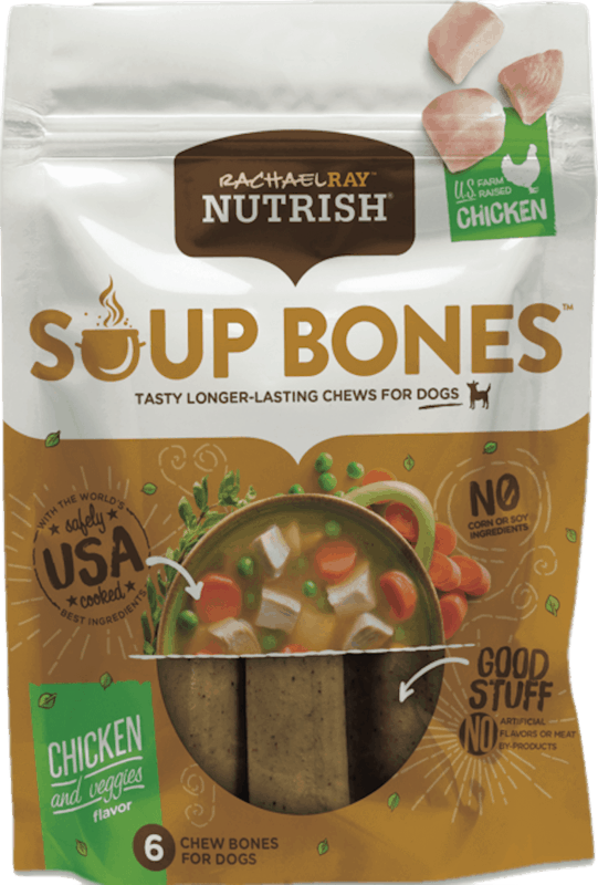 $0.75 for Rachael Ray Nutrish Soup Bones dog treats (expiring on Saturday, 02/15/2020). Offer available at PetSmart.