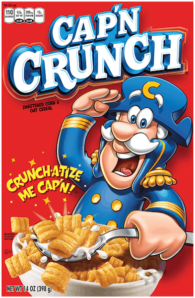 $0.25 for Cap'n Crunch® (expiring on Saturday, 09/15/2018). Offer available at multiple stores.