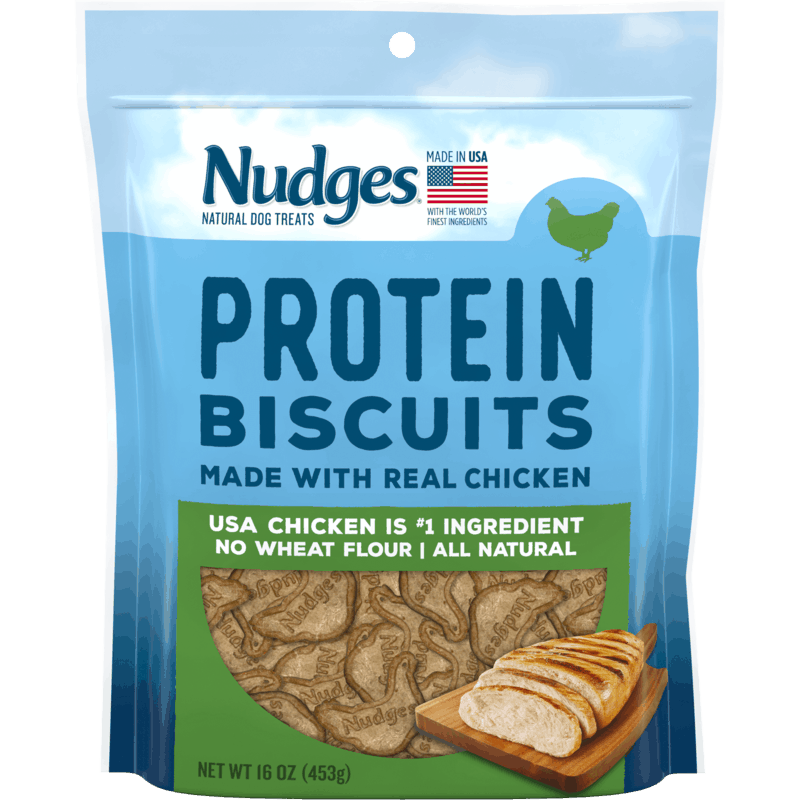 $0.75 for Nudges Protein Biscuits Dog Treats (expiring on Thursday, 09/10/2020). Offer available at Walmart, Walmart Grocery.