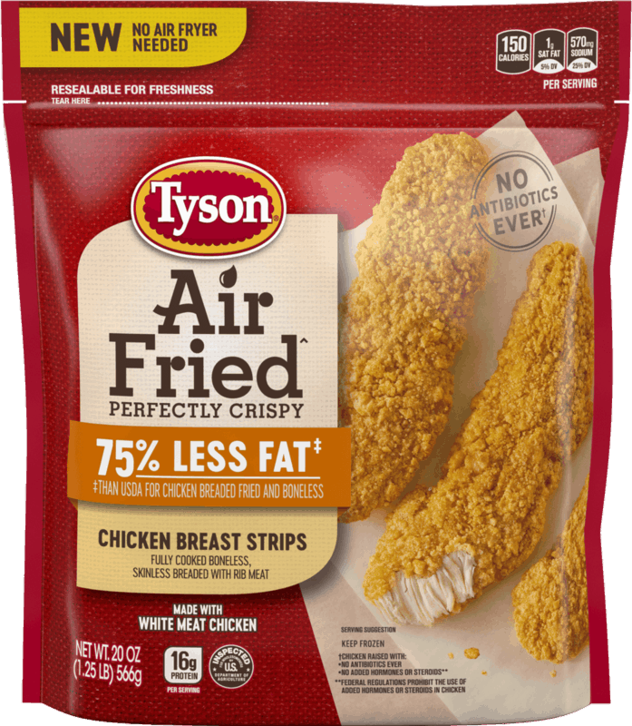 $1.00 for Tyson® Air Fried Chicken (expiring on Thursday, 05/14/2020). Offer available at Walmart.