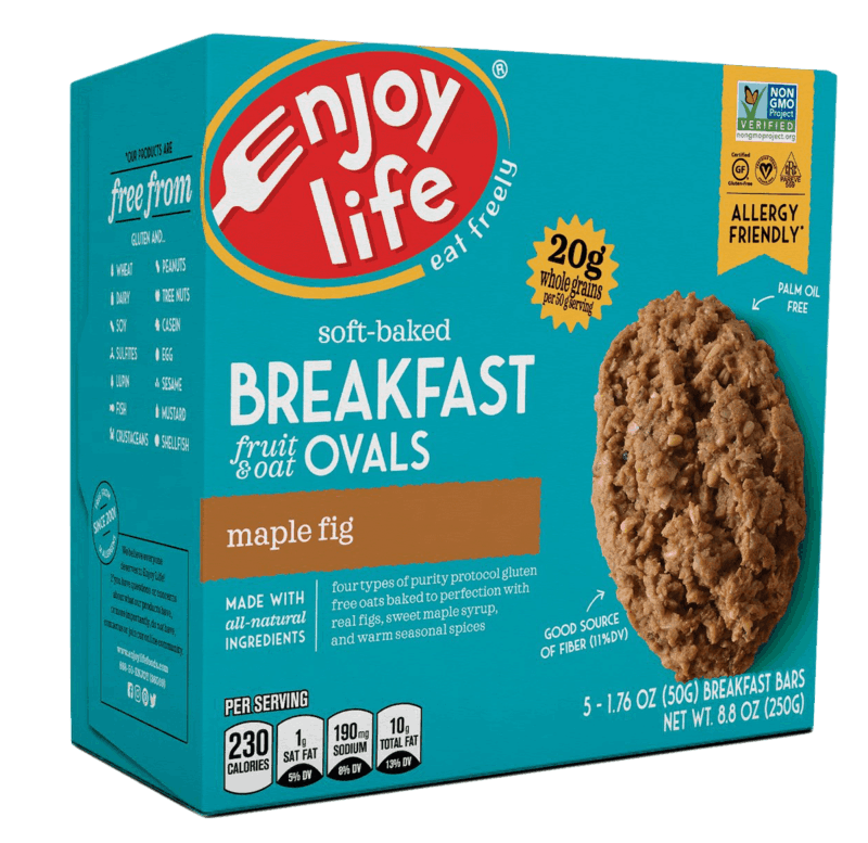 $1.00 for Enjoy Life® Soft-Baked Breakfast Ovals (expiring on Saturday, 10/31/2020). Offer available at multiple stores.