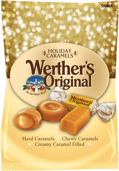 $0.25 for Werther's® Original® Assorted Holiday Caramels (expiring on Sunday, 12/24/2017). Offer available at Dollar General.