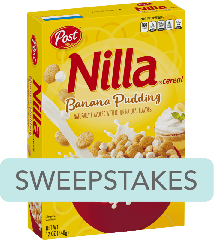 $0.25 for Post® NILLA® Banana Pudding Flavored Cereal (expiring on Saturday, 02/08/2020). Offer available at Walmart.