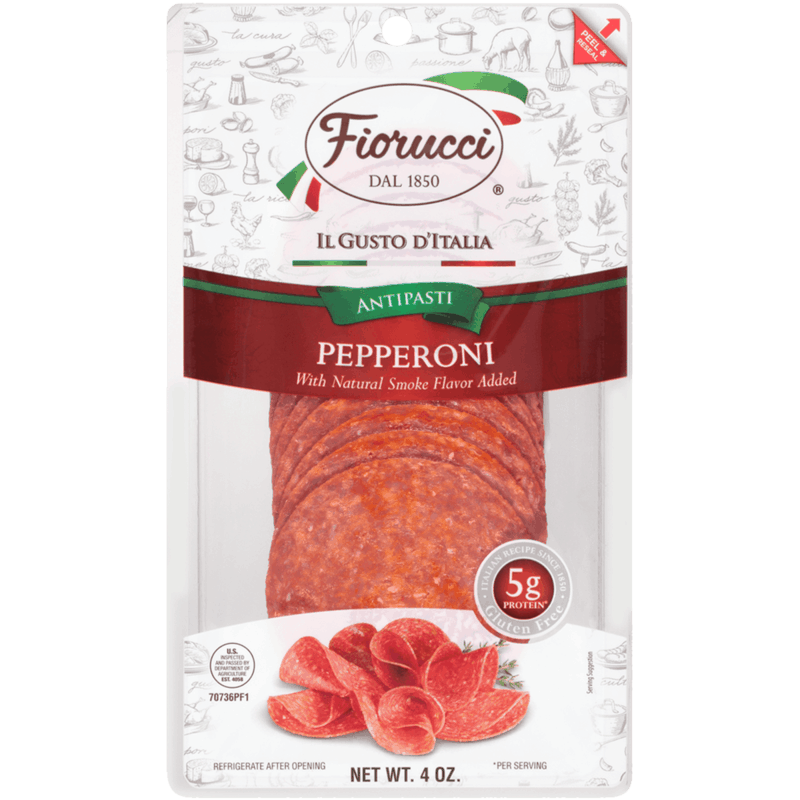 $0.75 for Fiorucci Pre-Sliced Pepperoni (expiring on Saturday, 10/31/2020). Offer available at Food Lion.