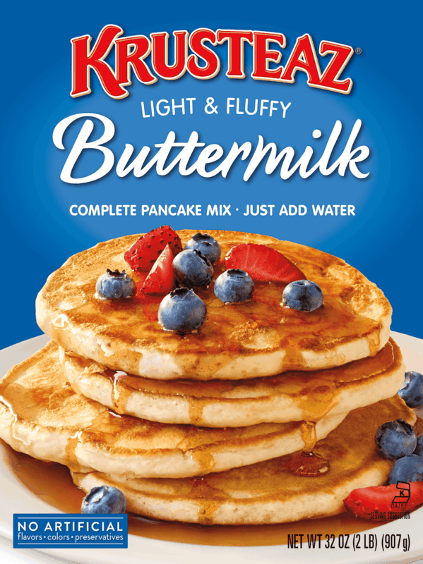 $1.00 for Krusteaz® Pancake or Waffle Mixes. Offer available at multiple stores.