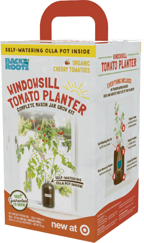 $6.00 for Back to the Roots® Windowsill Tomato Planter. Offer available at Target.