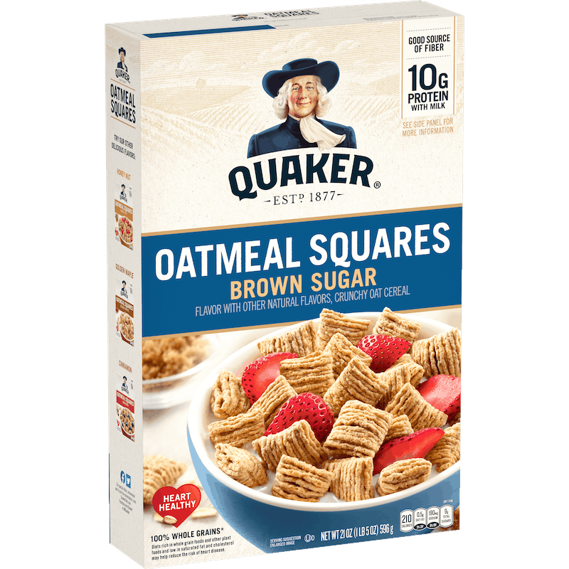 $0.15 for Quaker Oatmeal Squares (expiring on Wednesday, 03/31/2021). Offer available at Walmart, Walmart Grocery.