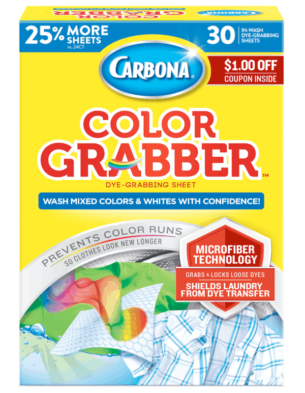 $1.00 for Carbona Color Grabber (expiring on Saturday, 10/31/2020). Offer available at multiple stores.