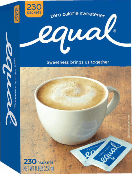 $1.00 for Equal® Zero Calorie Sweetener (expiring on Sunday, 09/02/2018). Offer available at multiple stores.