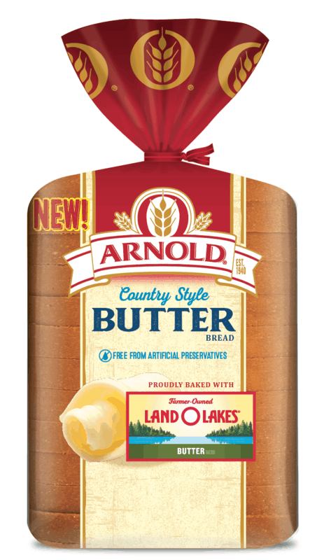 $0.50 for Arnold Country Style Butter Bread (expiring on Monday, 05/31/2021). Offer available at multiple stores.