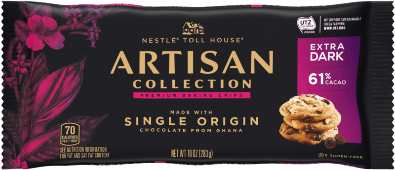 $1.00 for Artisan Collection by NESTLÉ® TOLL HOUSE® Premium Baking Chips (expiring on Thursday, 07/02/2020). Offer available at Walmart, Giant Eagle, Meijer, H-E-B, Hy-Vee.