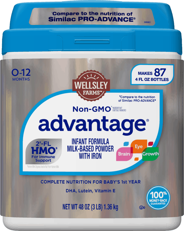 $4.00 for Wellsley Farms™ Advantage® Formula. Offer available at BJ's.